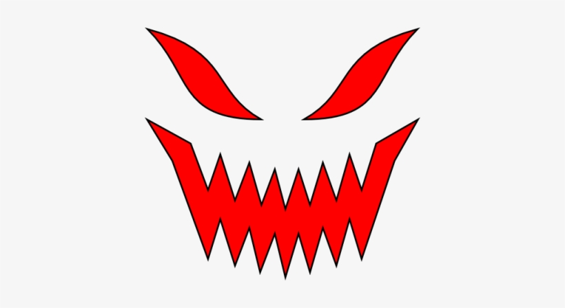 Evil Face Red Clipart Png File Png Images.