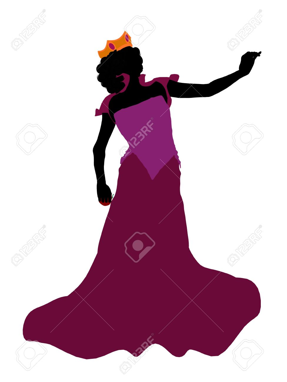 Evil Queen Illustration Silhouette On A White Background Stock.
