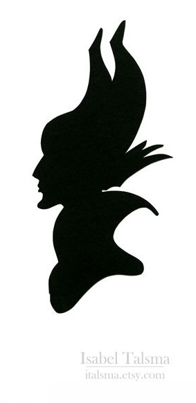 Evil queen silhouette. Perfect stencil to use for a pumpkin.