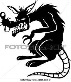Evil Rat Silhouette.