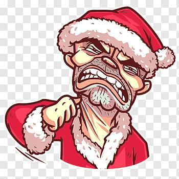 Bad Santa cutout PNG & clipart images.