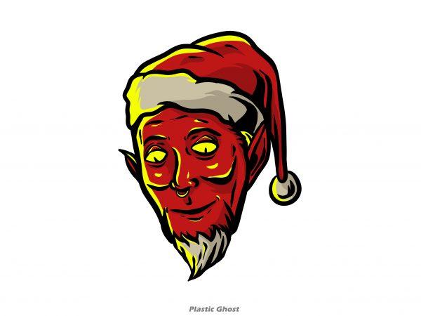 Evil Santa Claus vector clipart.