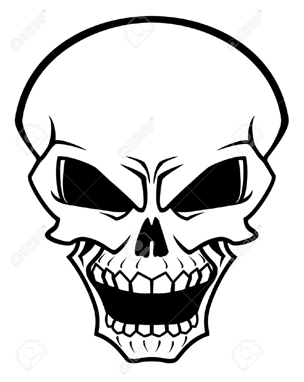 Skeleton Face Line Drawing : Evil skeleton body clipart clipground