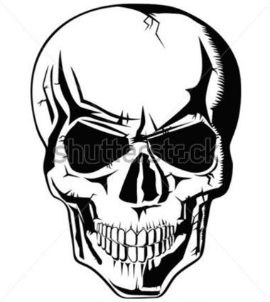 Evil Skeleton Body Clipart.