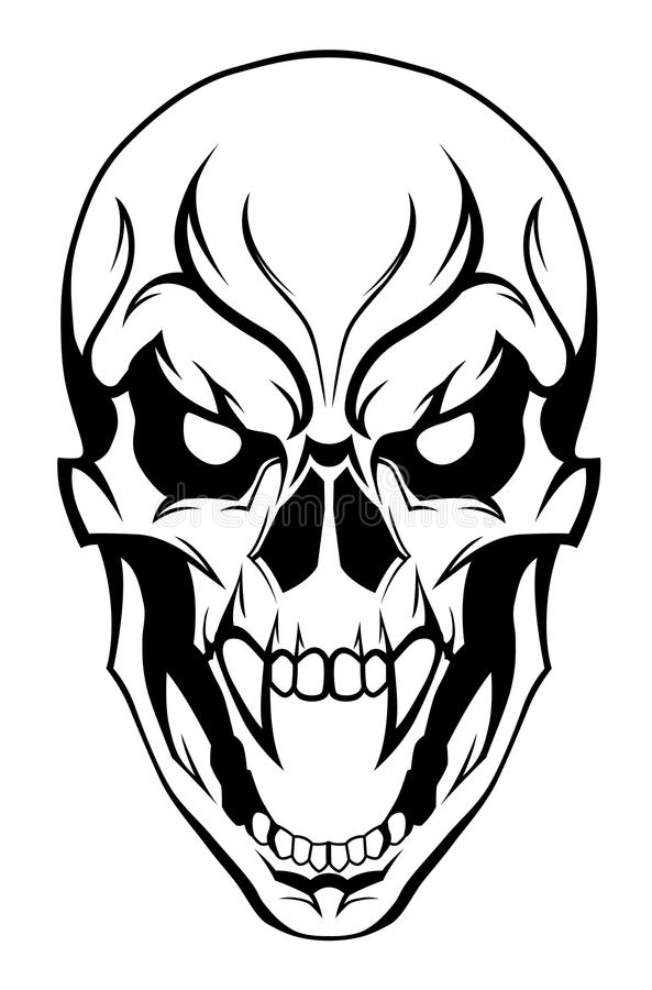 Evil Skull Stock Illustrations.