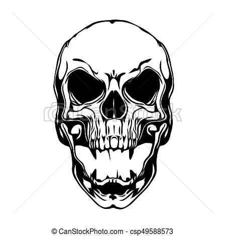 Evil skull illustration.