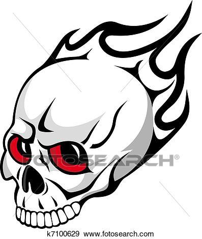 Evil skull Clip Art.
