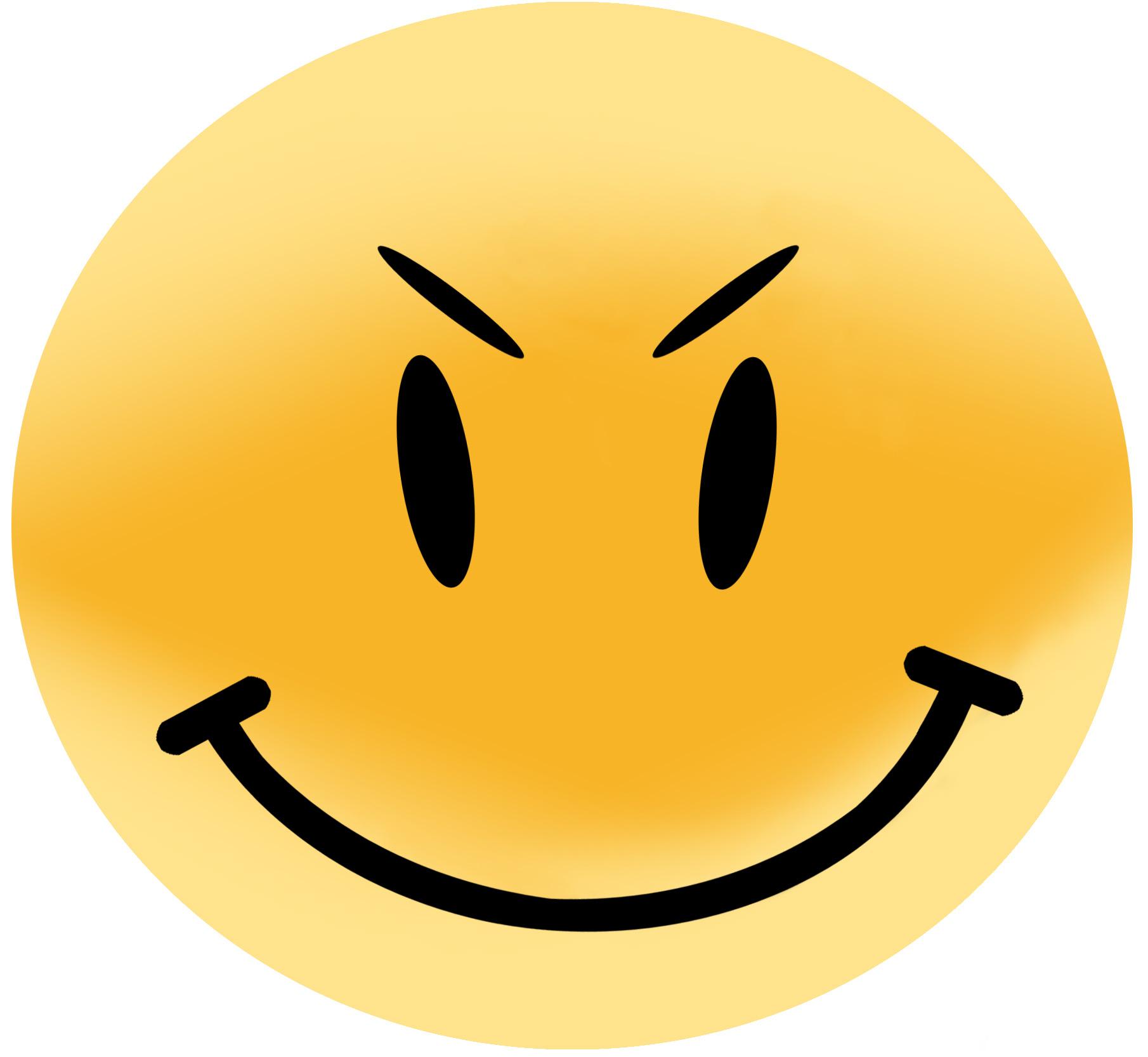 Evil smiley face clip art Transparent pictures on F.