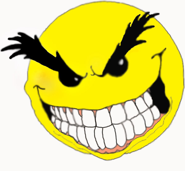 Evil Smiley Face Clip Art N13 free image.