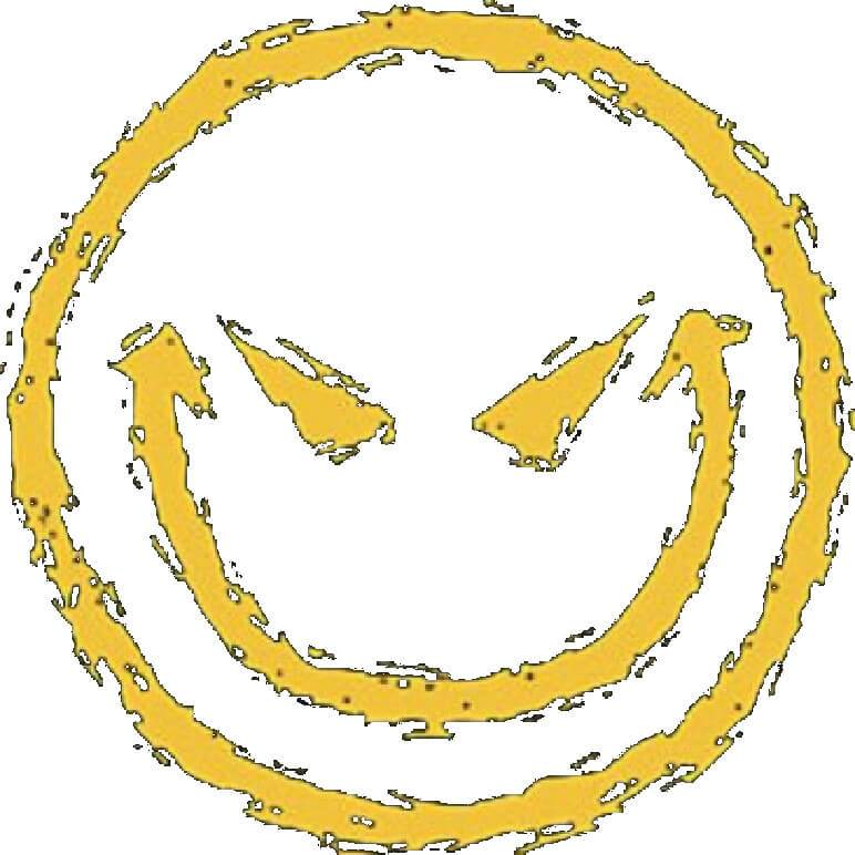 Evil Smiley Face Printed T.