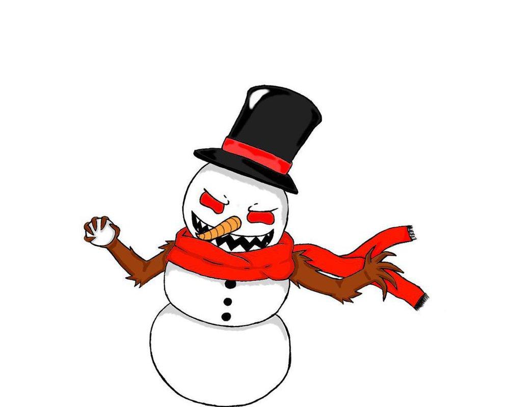 Evil Snowman Clipart.