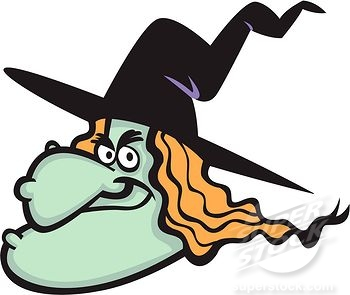 Evil witch clipart kid.