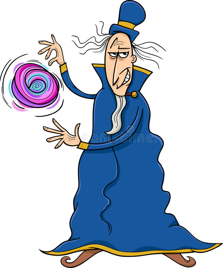 Evil Wizard Stock Illustrations.