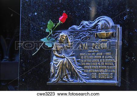 Stock Photo of Grave site of Eva Peron or Evita in La Recoleta.