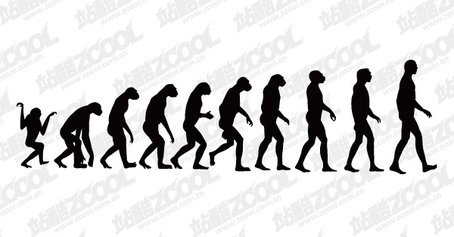Free Of human evolution Clipart and Vector Graphics.