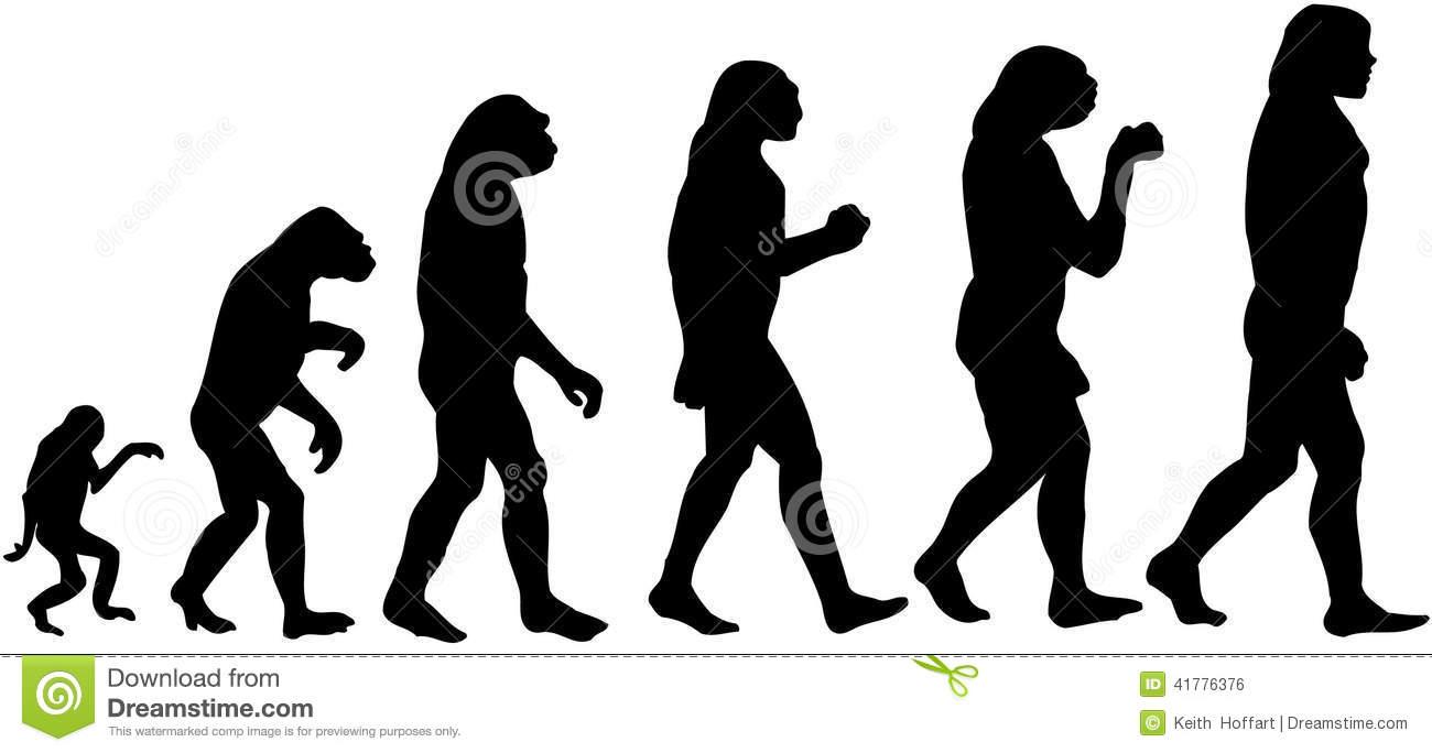 Man Evolution Cartoon Vector Clipart Stock Vector.