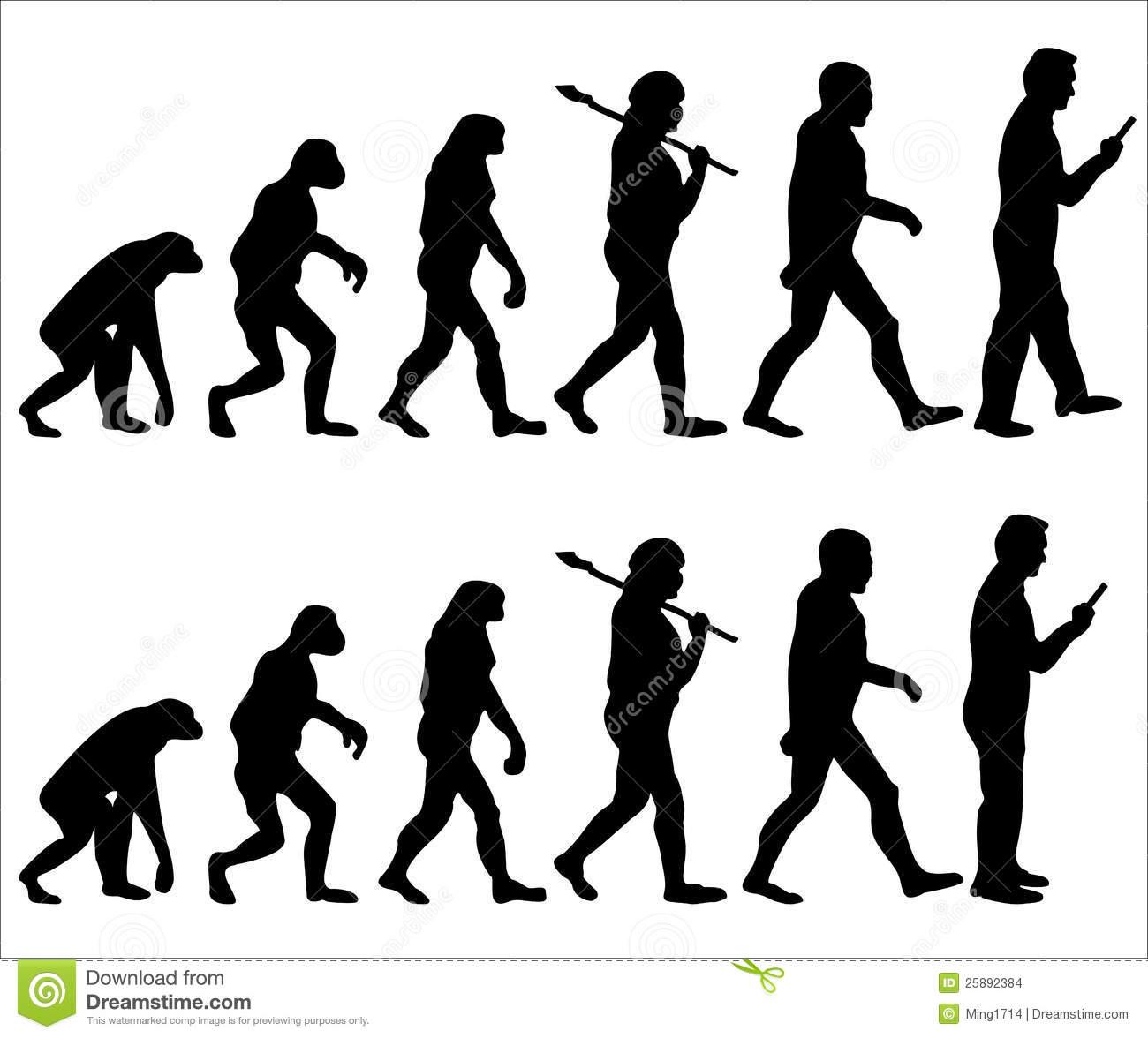 Evolution of man clipart.