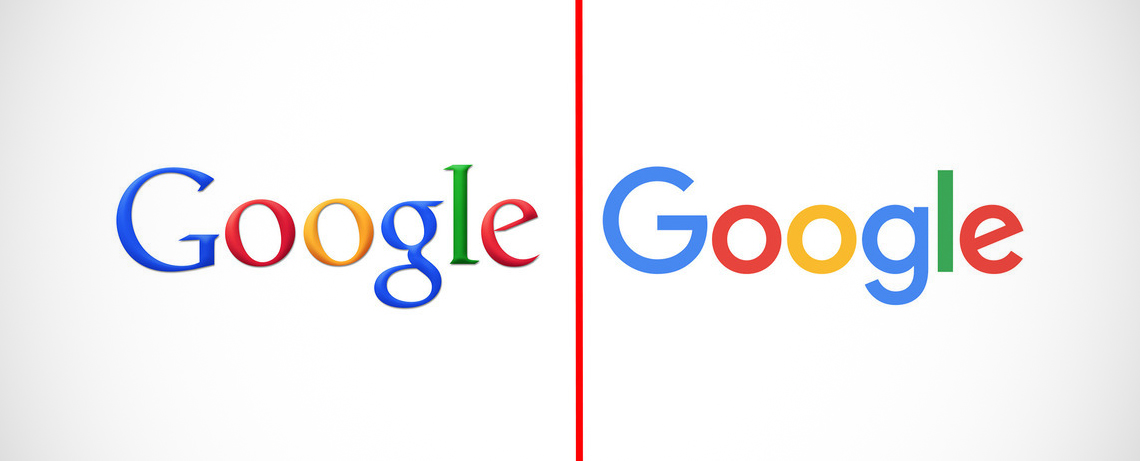 The evolution of the Google logo.
