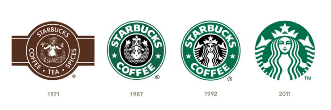 History of starbucks logo.