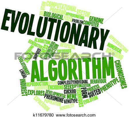 Stock Illustrations of Word cloud for Evolutionary algorithm.