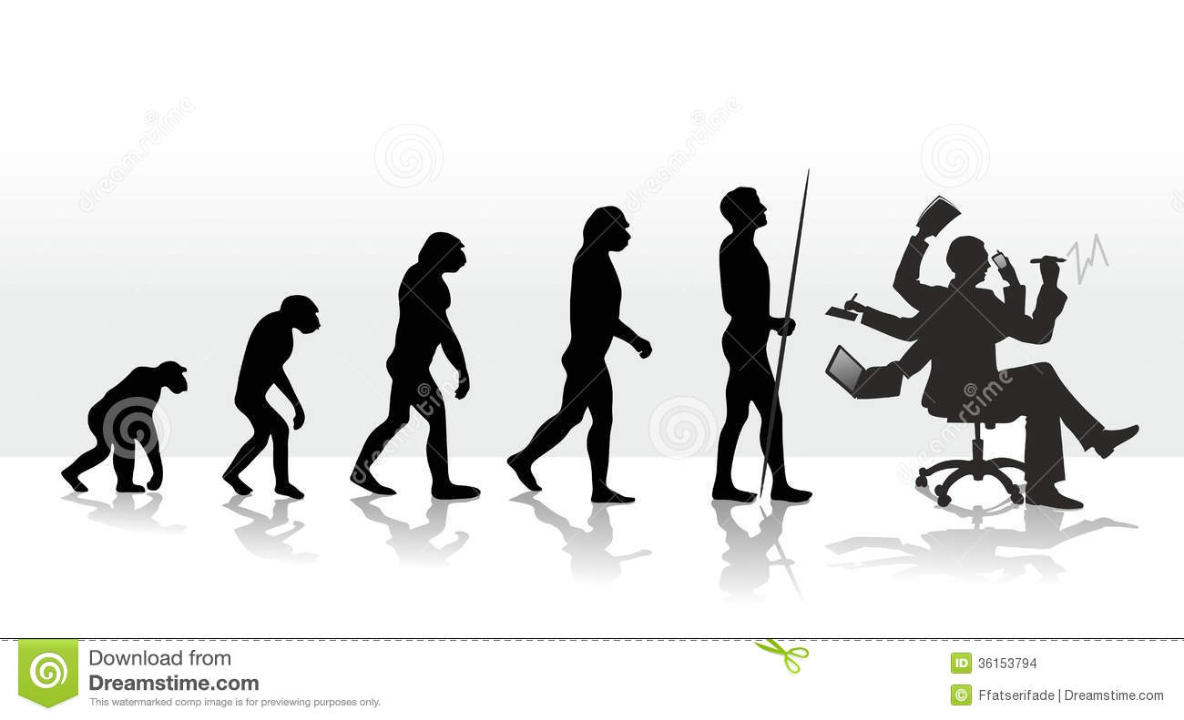 Next Human Evolution Stock Images.
