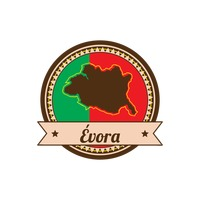 Evora map Vector Image.