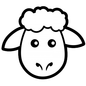 Sheep Ewe Clip Art Free Vector / 4Vector.