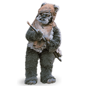 Star Wars Ewok transparent background.