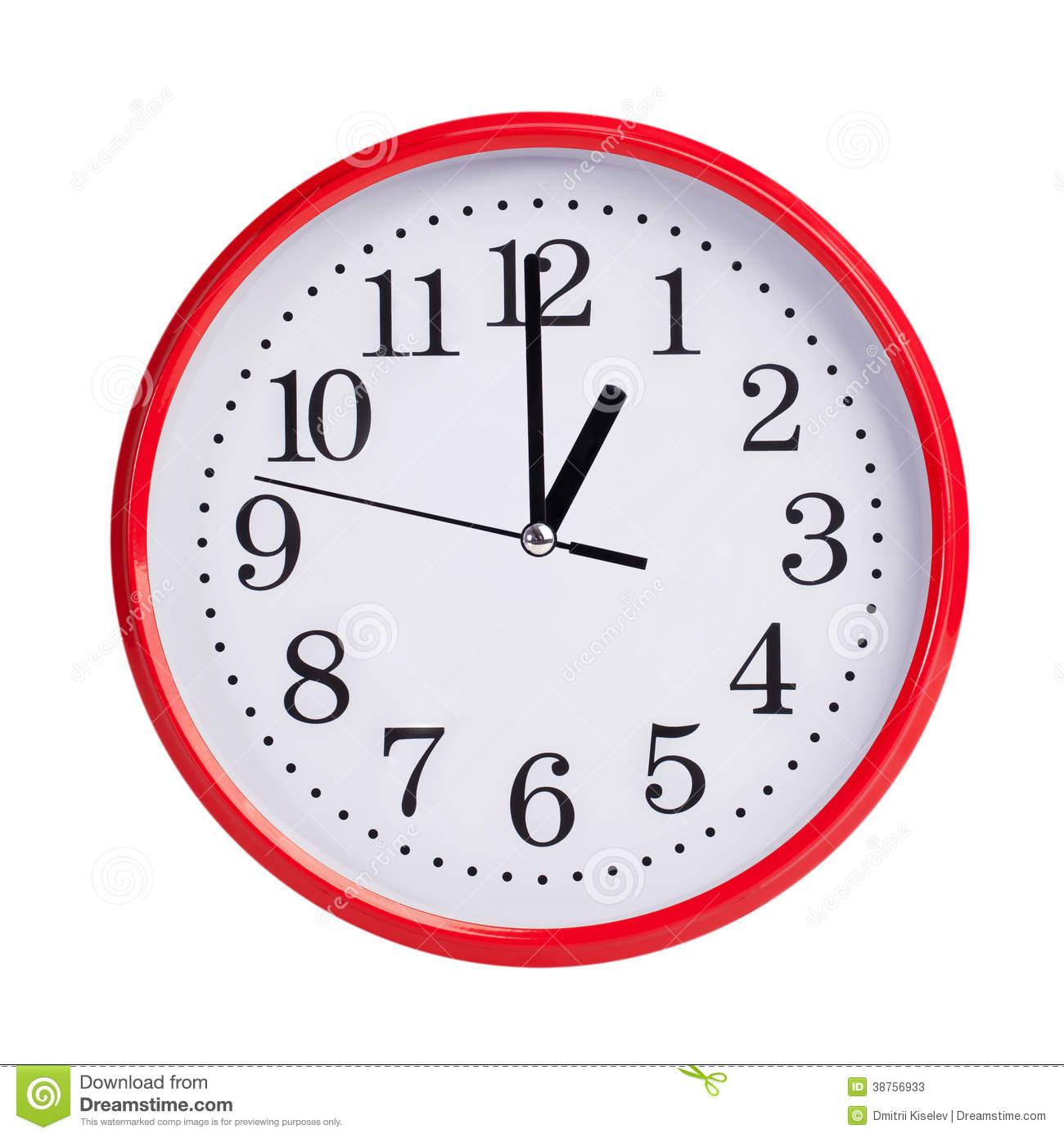 One o'clock clipart.