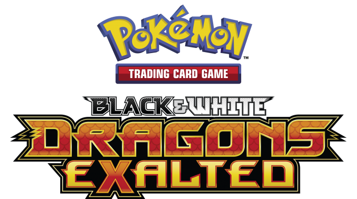 Pokemon TCG Black & White Dragons Exalted logo.