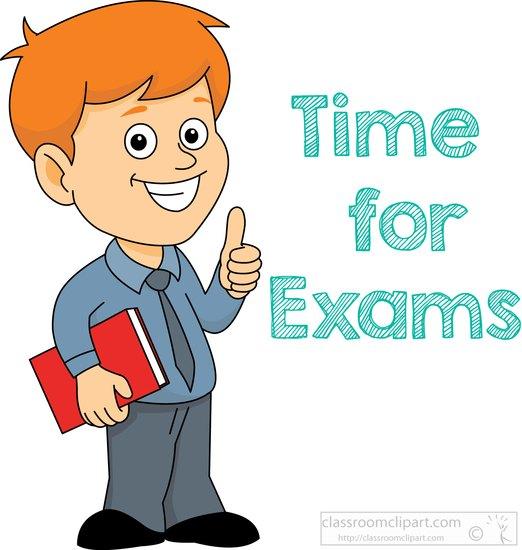 School examination clipart.