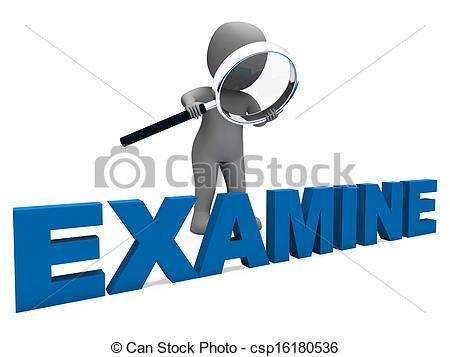 Drawings of Examine Character Shows Examination Examining And.