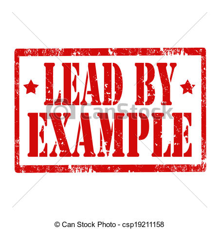 Clipart Vector of Lead By Example.