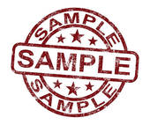 Clip Art of Sample Stamp Shows Example Symbol Or Taste k9791822.