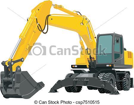 Clipart Vector of Excavator.