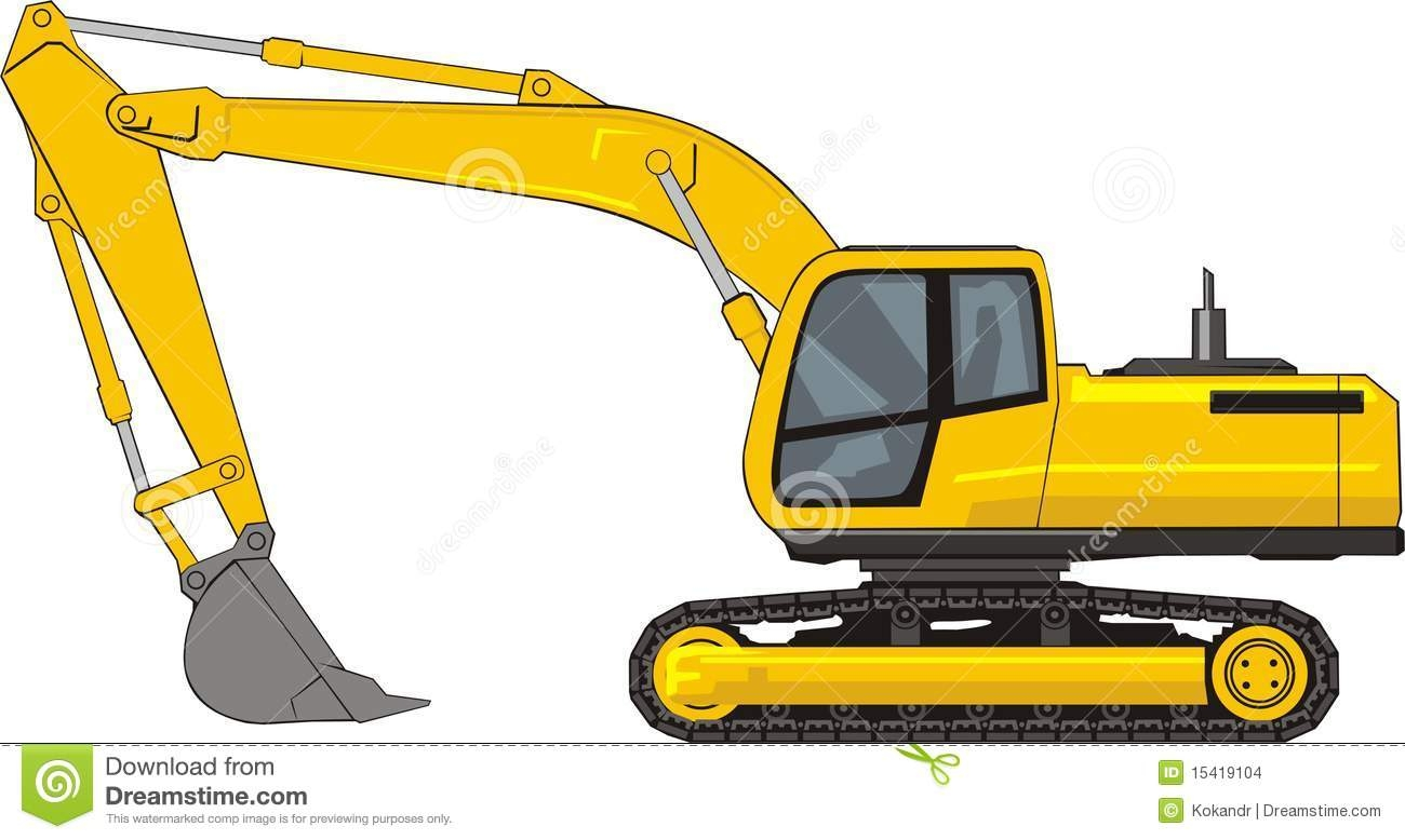 Cat excavator clipart.