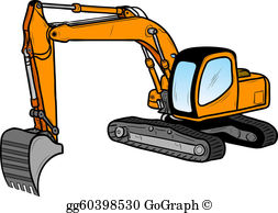 Excavator Clip Art.