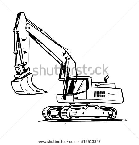 Excavator clipart black and white 3 » Clipart Station.