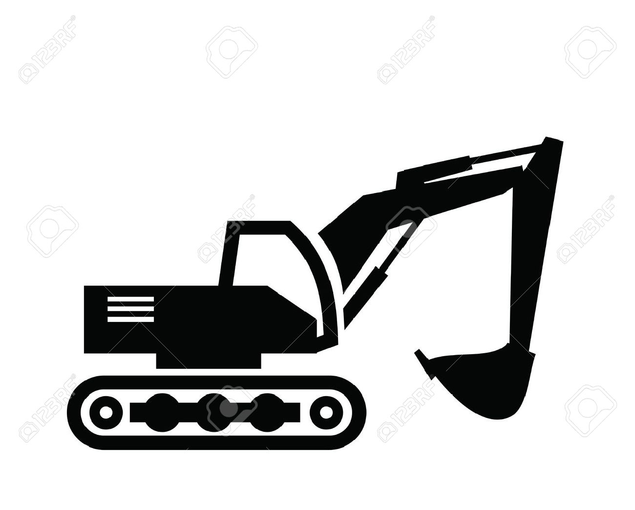 Excavator clipart black and white 4 » Clipart Station.