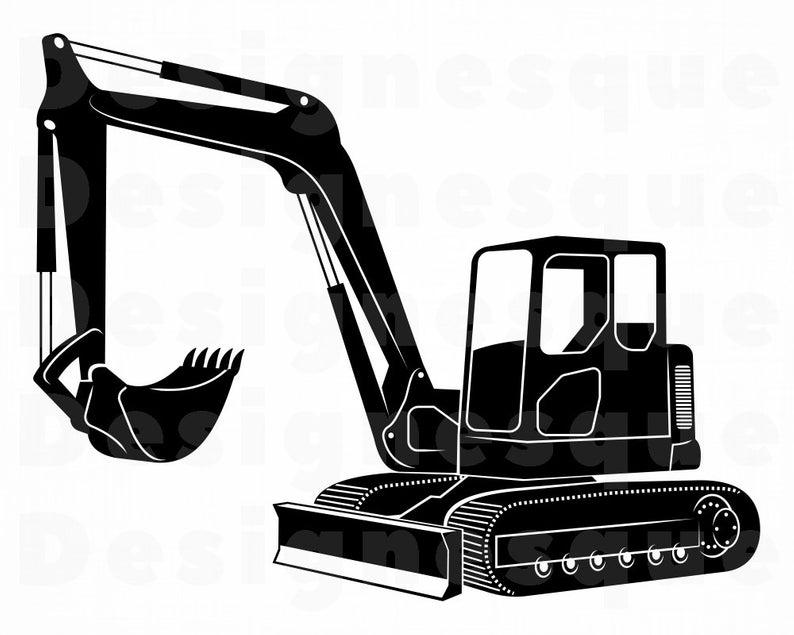 Excavator #4 SVG, Heavy Equipment, Excavator Clipart, Excavator Files for  Cricut, Excavator Cut Files For Silhouette, Dxf, Png, Eps, Vector.