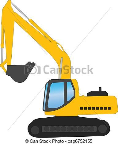 Excavator/Digger Stencil.