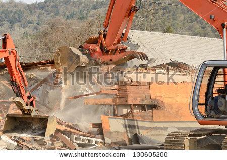 House Demolition Stock Photos, Royalty.
