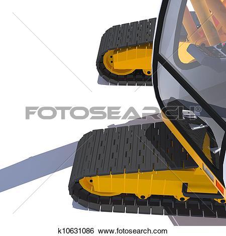 Stock Illustration of Excavator tracks k10631086.