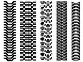 Clip Art of Set of detailed trace track tractor prints k12107876.