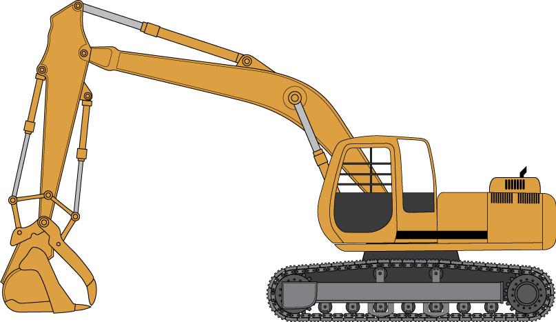 Crane Wheel Clip Art : Excavators clipart clipground