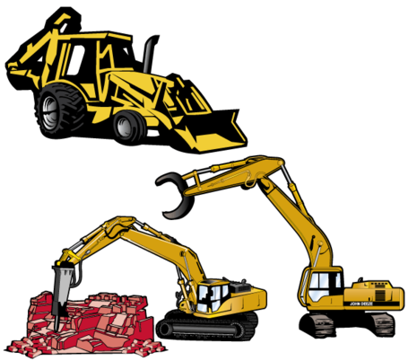 Excavator Clip Art, Vector Excavator.