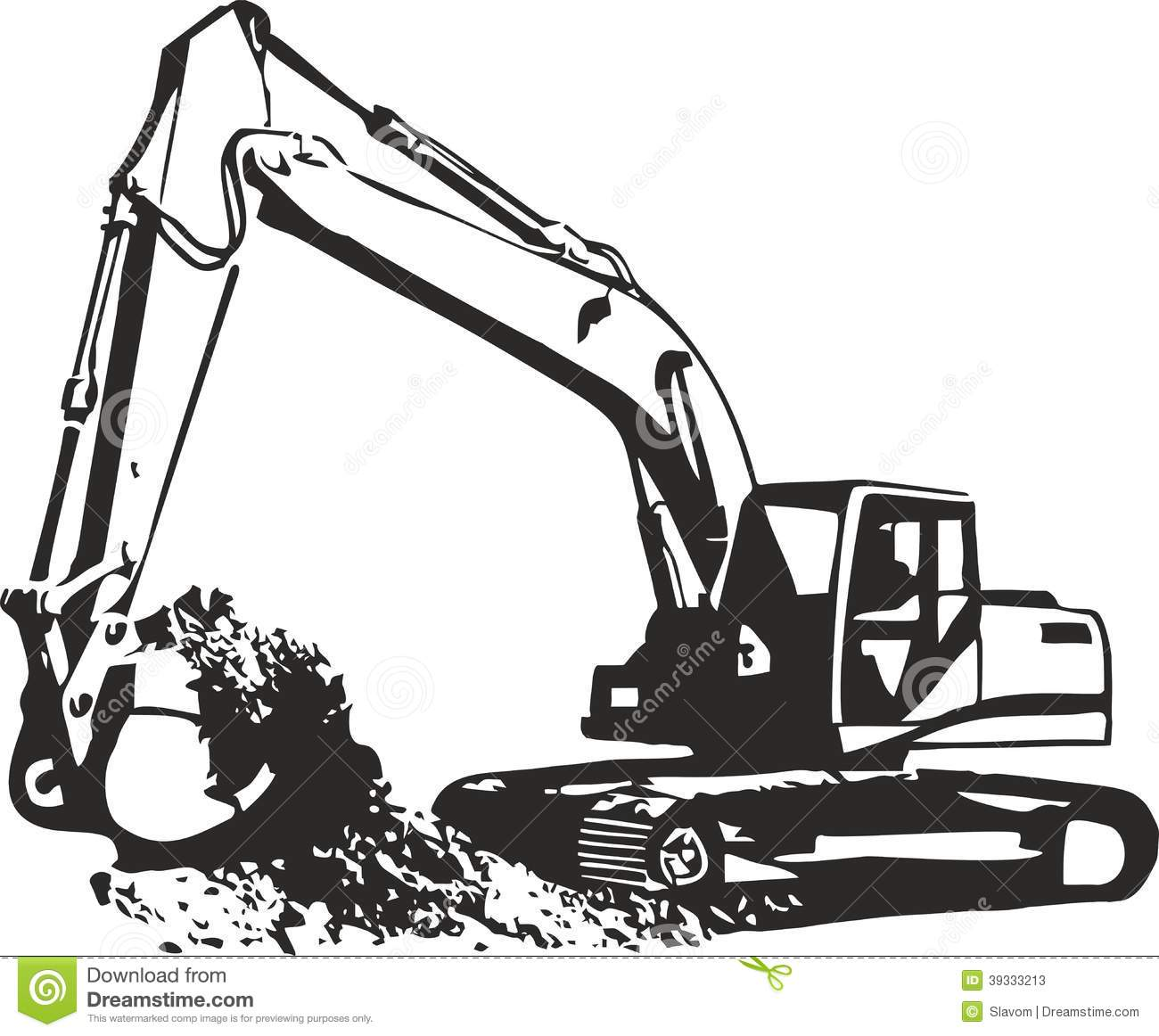 Excavator Stock Illustrations.