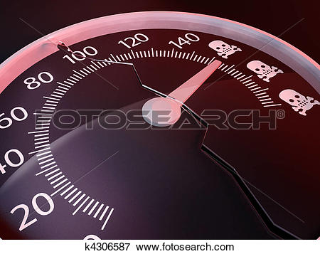 Stock Illustration of Exceed the speed limits kills k4306587.
