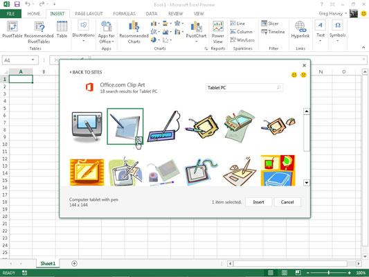 How to Insert Clipart Images in Excel 2013.