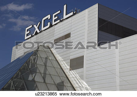 Stock Image of England, London, Docklands, The Excel Exhibition.